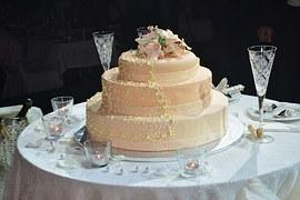 El pastel de bodas en los matrimonios